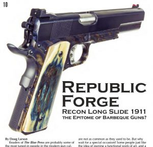 BLUE PRESS FEATURES REPUBLIC FORGE