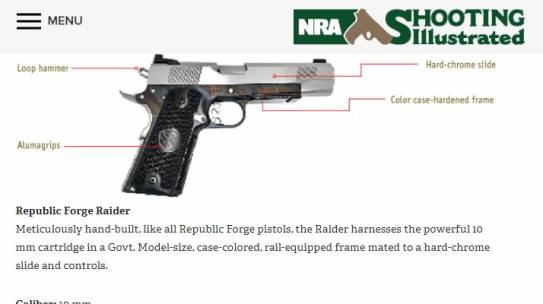 Shooting Illustrated Names Republic Forge to Top 10 of 2019