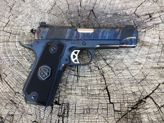 45 ACP Color Case Slide on Blued Frame Patriot Commander RO4155