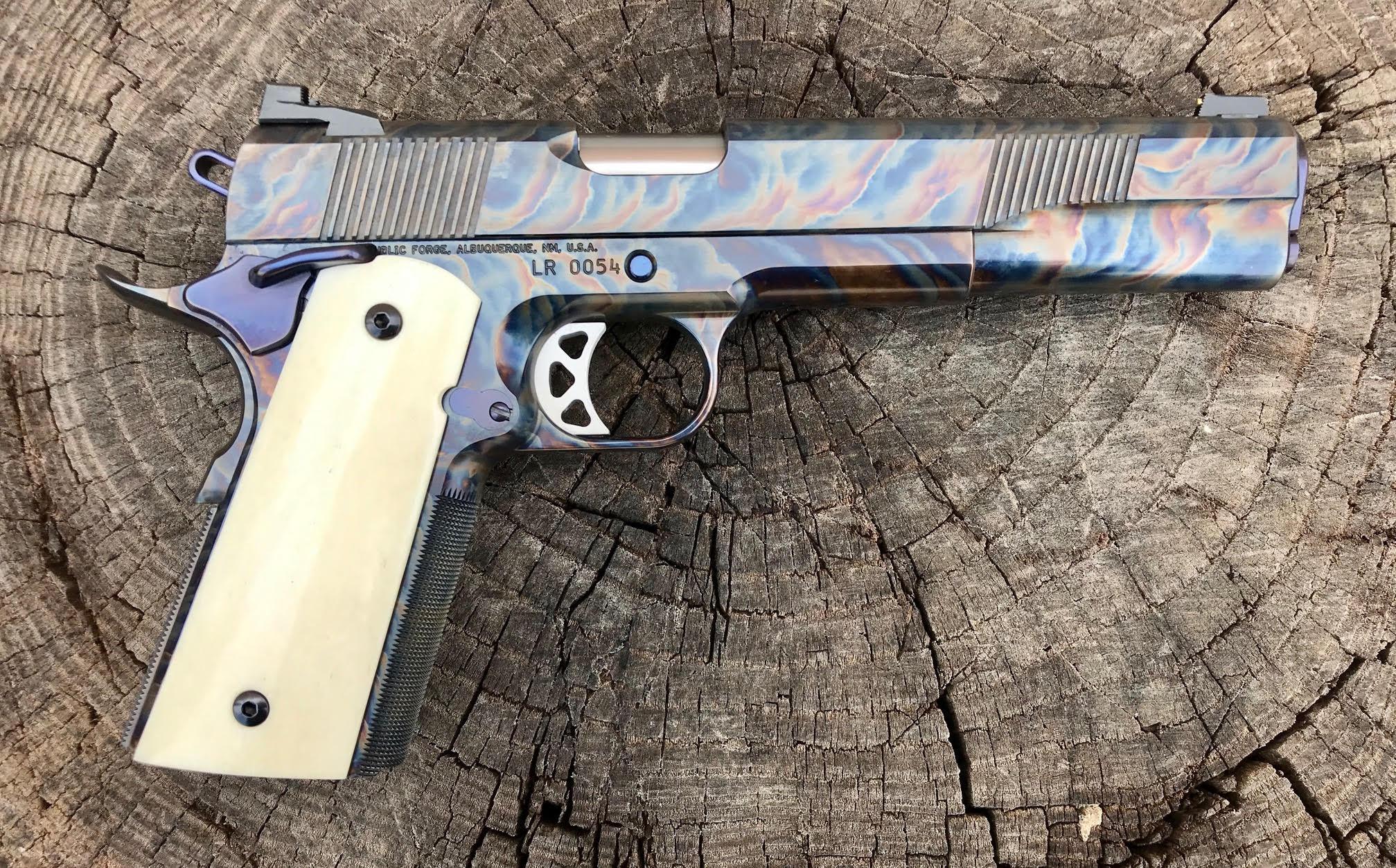 Long Slide Color Case 45ACP with Bison Grips LR0054