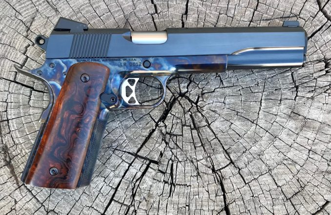 Long Slide 9MM with Ironwood  Burl Grips LR0012